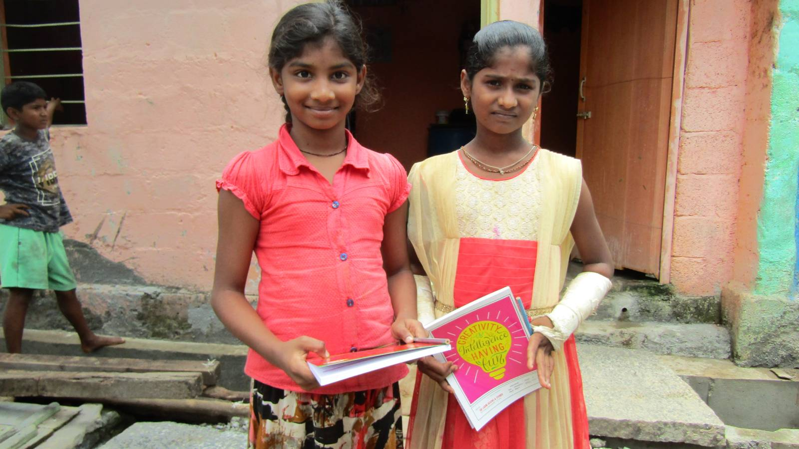 Education materials distribution to Children