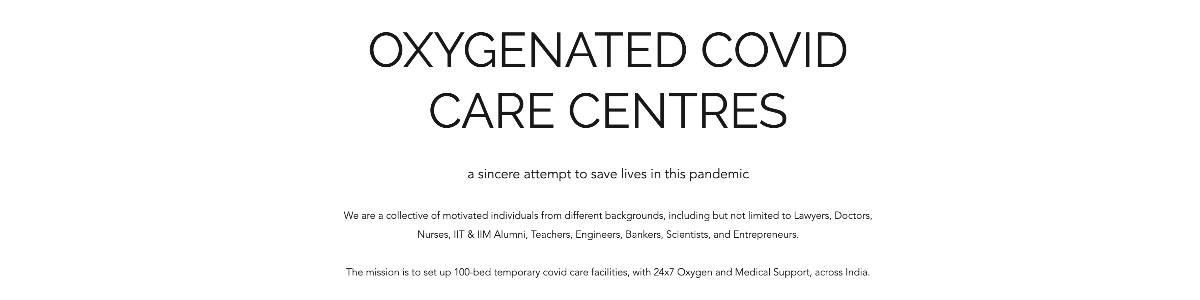 100-Bedded Oxygenated Covid Care Centre, Indore