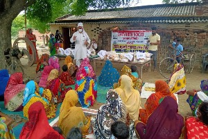 Covid Relief Work for affected families in the Villages of Varanasi