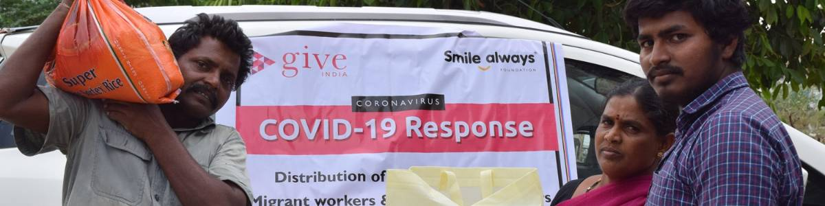 Support daily wage workers who have lost their livelihood and are unable to feed their families due to the COVID-19 pandemic, by providing food grains