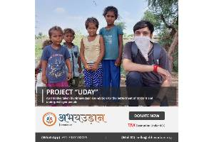 """Project """"UDAY""""   An Initiative taken by Abhayudaan Foundation for Migrant workers and Underprivileged peoples."""
