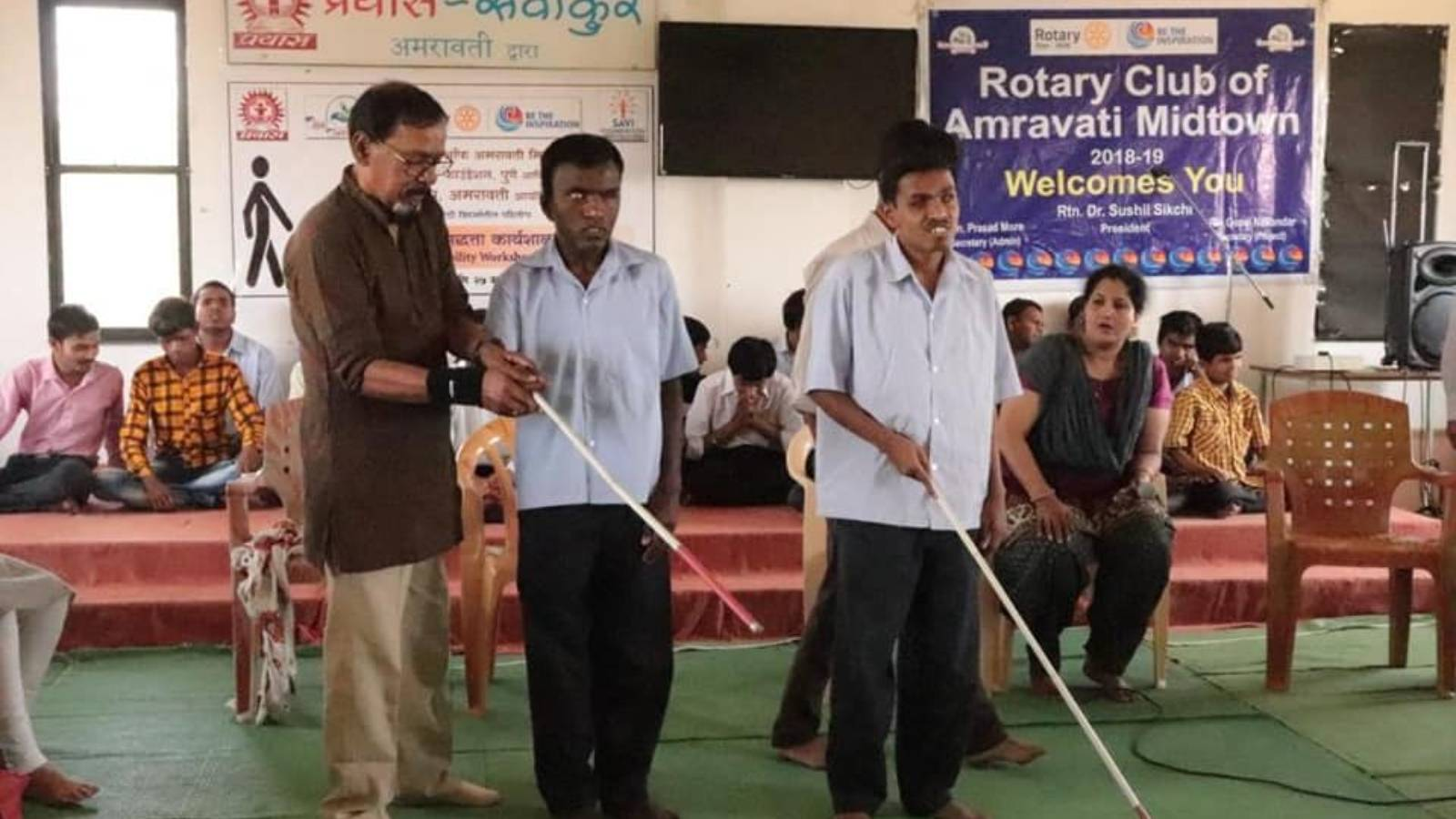 Mobility workshop for Visually challenged