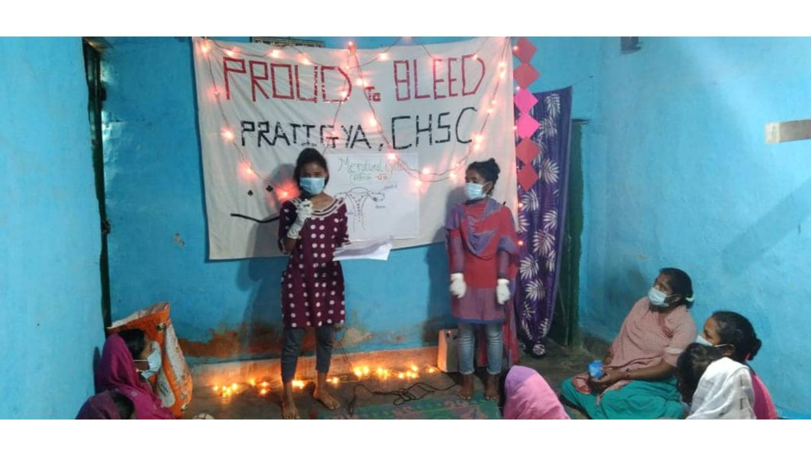 Pratigya's adolescents addressed the issues related to girls and women during the situation of lockdown and distributed Menstrual Hygiene Kits.