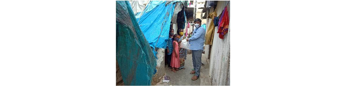 Distribution of COVID-19 Relief Kits to the Impoverished Students and their Families Dwelling in Urban Slums of Bangalore and Rural Villages in Atal Nagar