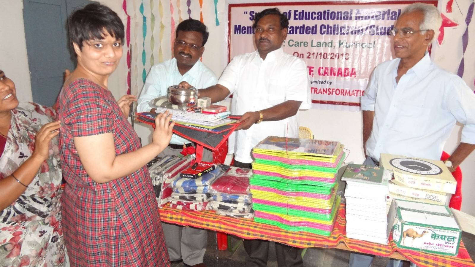 Distribution of Education Materials to Mentally Retarded