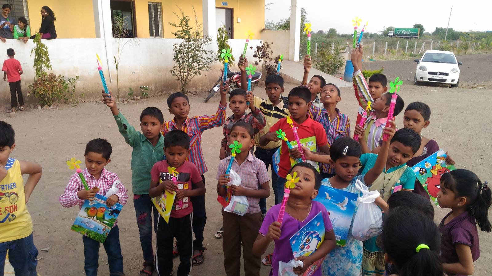 Childrens fun activities at MGVS Shelter home