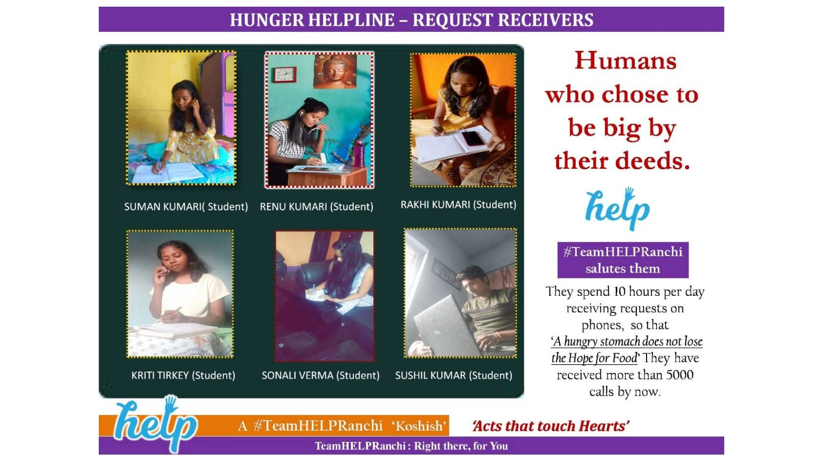 Pratigya hosted Hunger Helpline for 60 days run by District Administration
