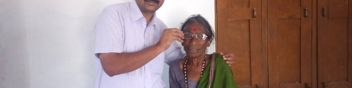 Tribal  school children and community eye screening  cum spectacle distribution Project