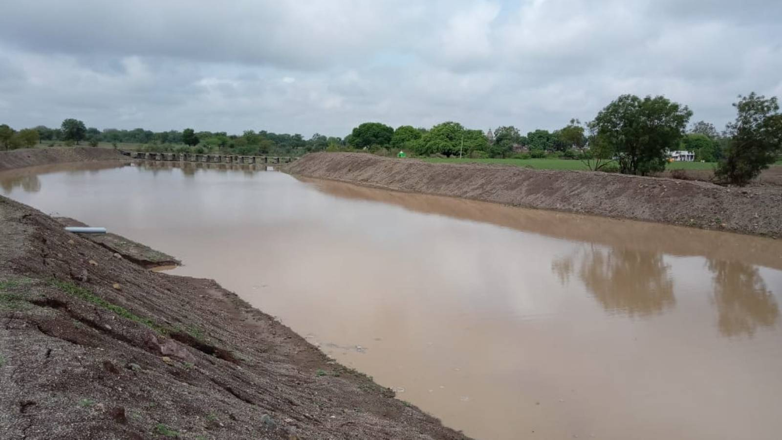 Water Storage created by desilting of nallas,canals