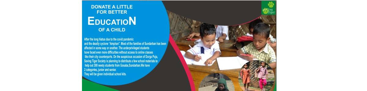 Helping needy students of Sundarban with study materials