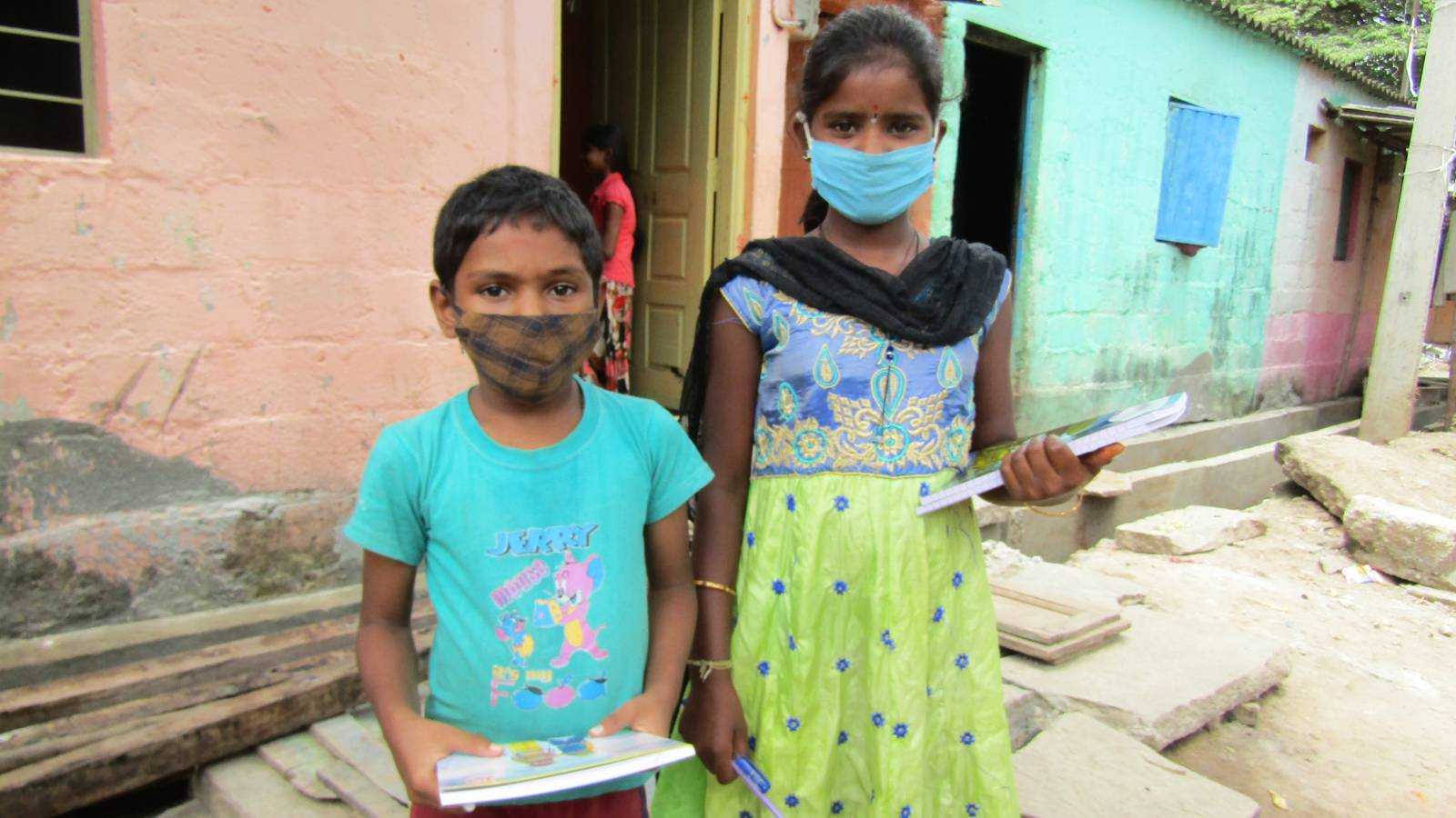 Educational materials distribution to Children