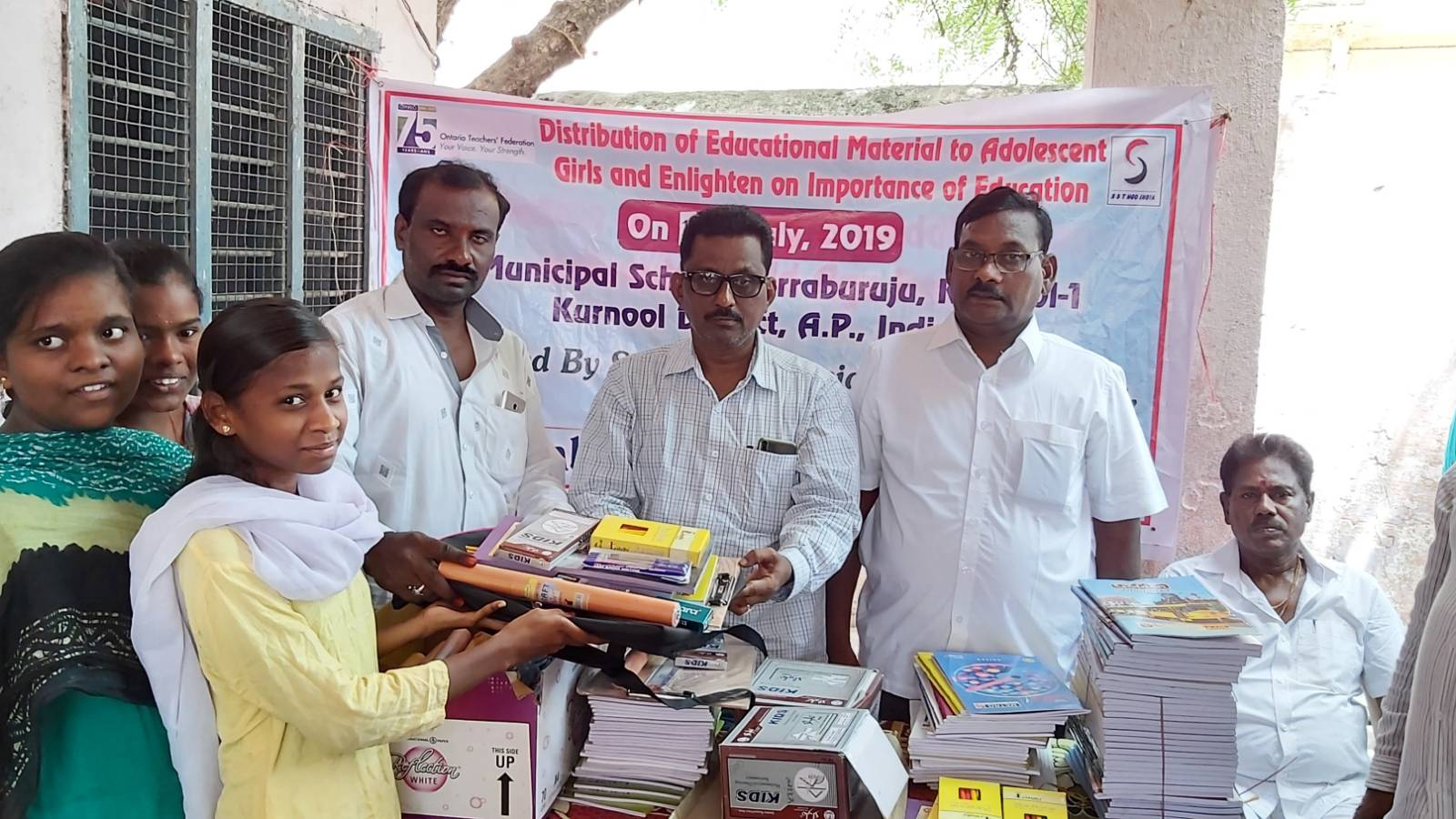 Distribution of Education Materials to Adolescent girls