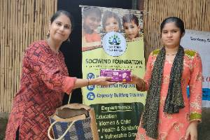 Safe Period adds to Quality Life: Distribution of Sanitary Napkins in Slums of Delhi