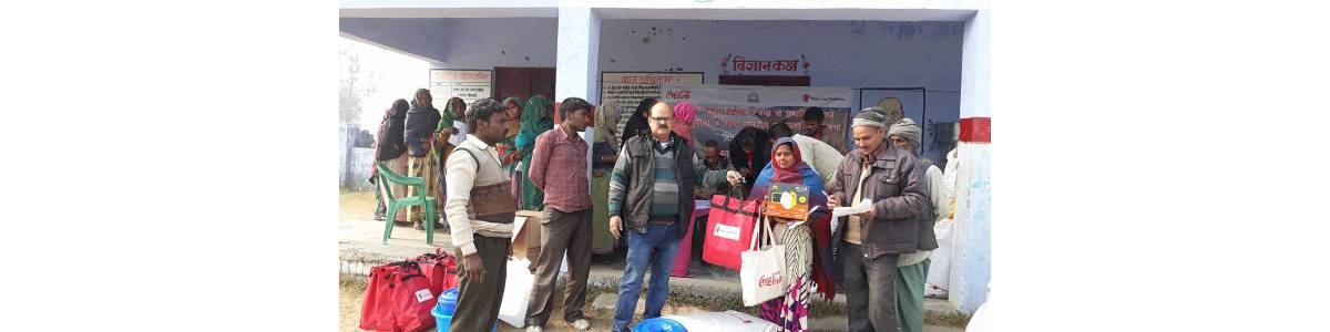 """Contribute to BGSVS """"Rahat"""" Floods - for relief in Bahraich/Shrawasti Floods affected village"""