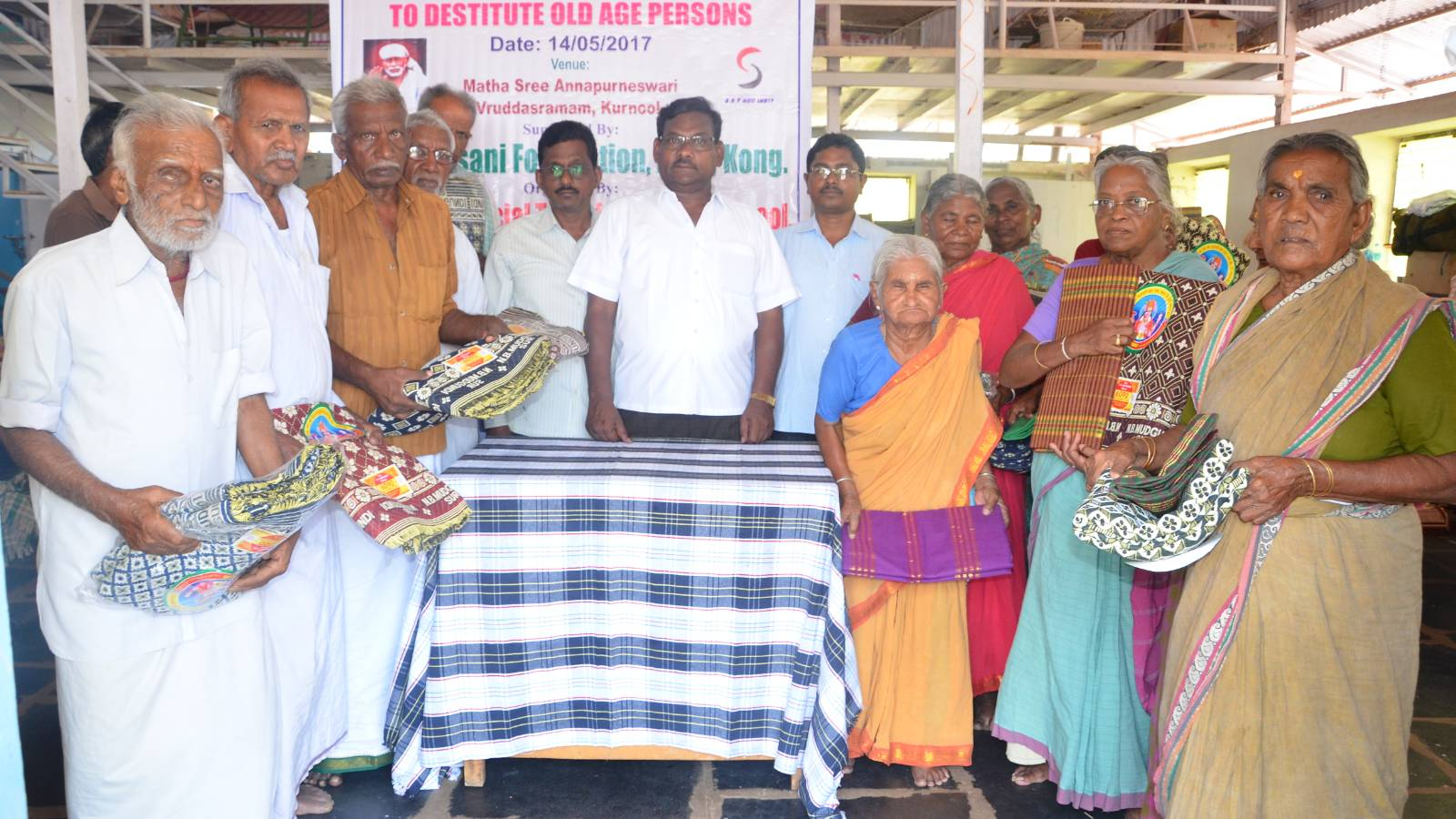 Distribution of Clothing & Bedding to Old Age Persons