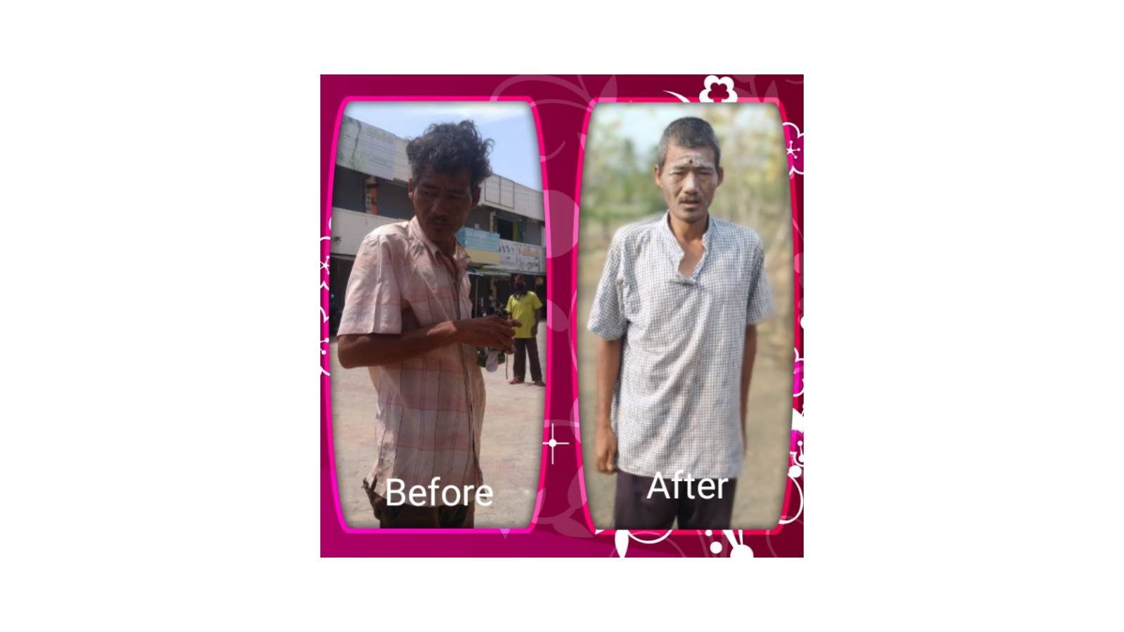 Mentally ill Before and After Rescue form road Side