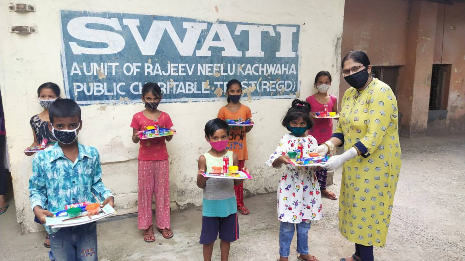 Educational kit distribution to enable the children to continue their learning