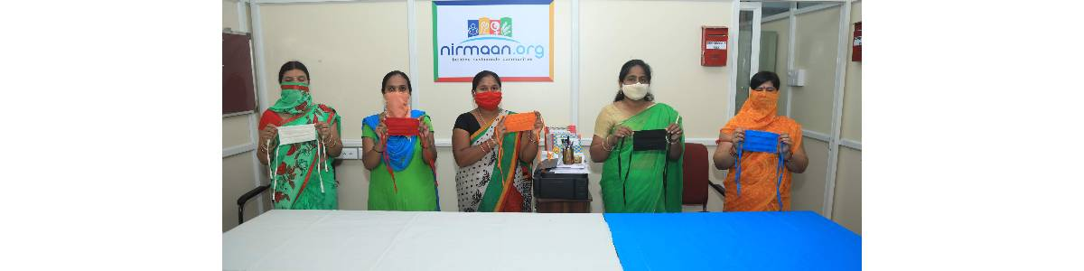 Mask Making Production Unit run by Women from Underprivileged Communities