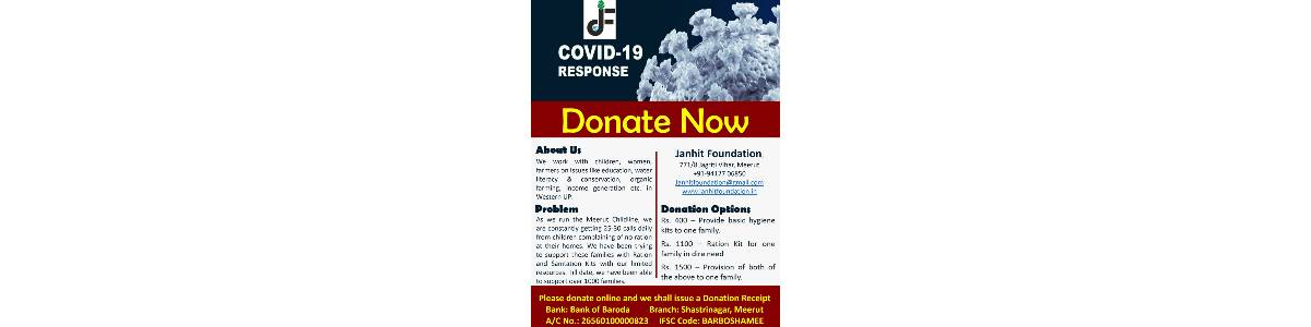 COVID Relief and Response to 1500 Marginalized Families of Meerut with Ration and Sanitation Kits