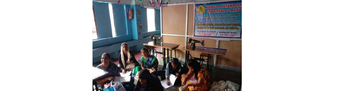 Conduct free tailoring class for widows, poor women,abandoned by their husbands.