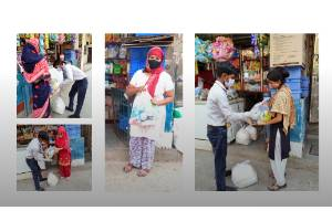 Help young people distribute food and sanitary kits to Daily Wagers in Delhi slums
