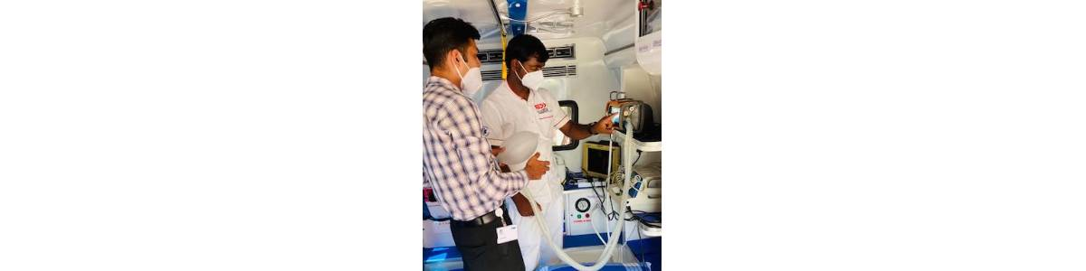 COVID 19 Response and Relief in Bangalore with Mobile ICU, Oxygen Concentrators and Food