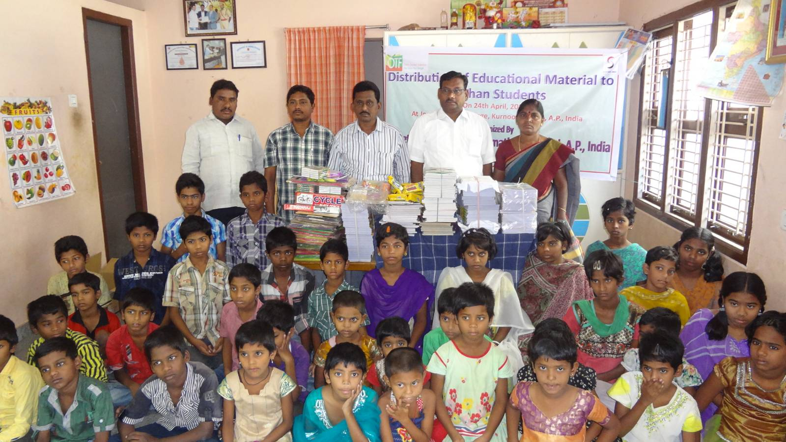 Distribution of Education Materials to Poor Students