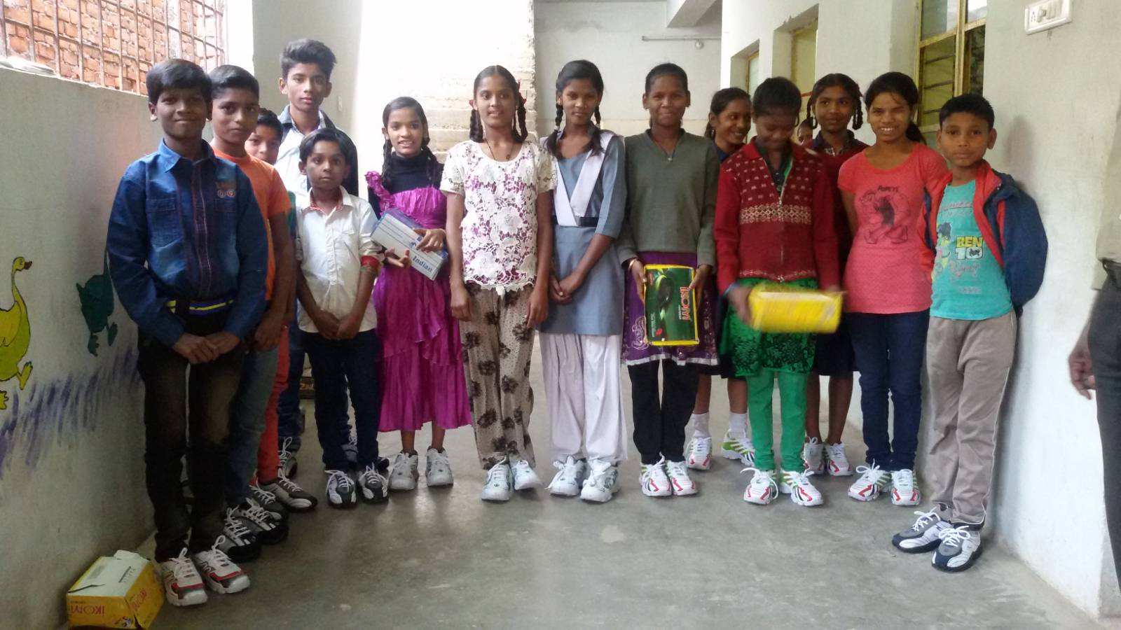Street and Orphan children got new shoes