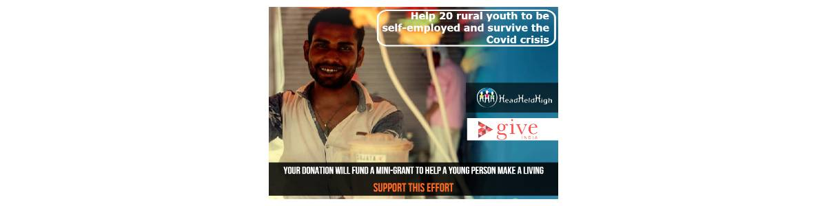 Antarprerna - Self employment for rural youth who have been hit by Covid