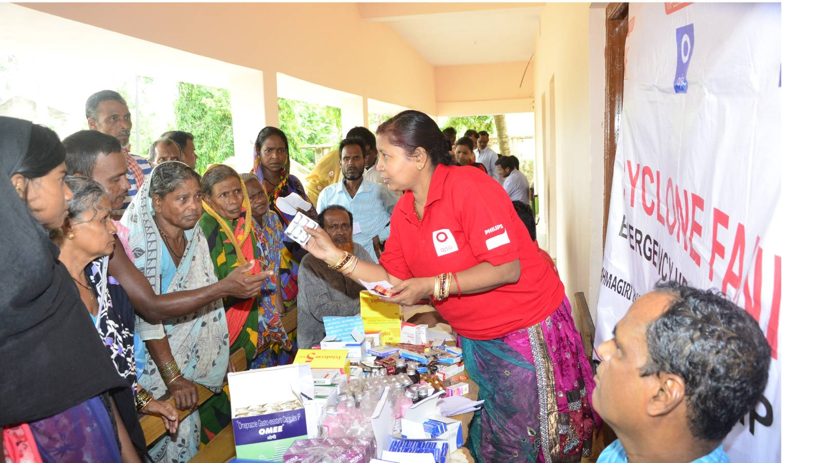 Emergency Health Camp in Cyclone FANI affected areas of Puri District In Odisha