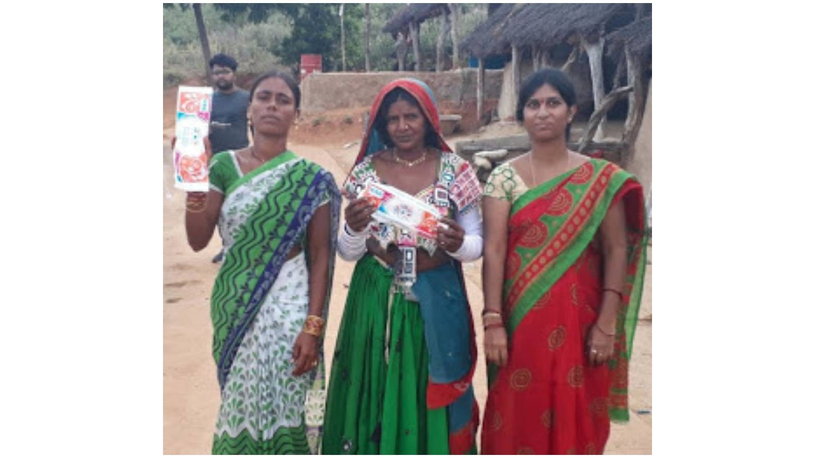 Sanitary pads distribution for village people