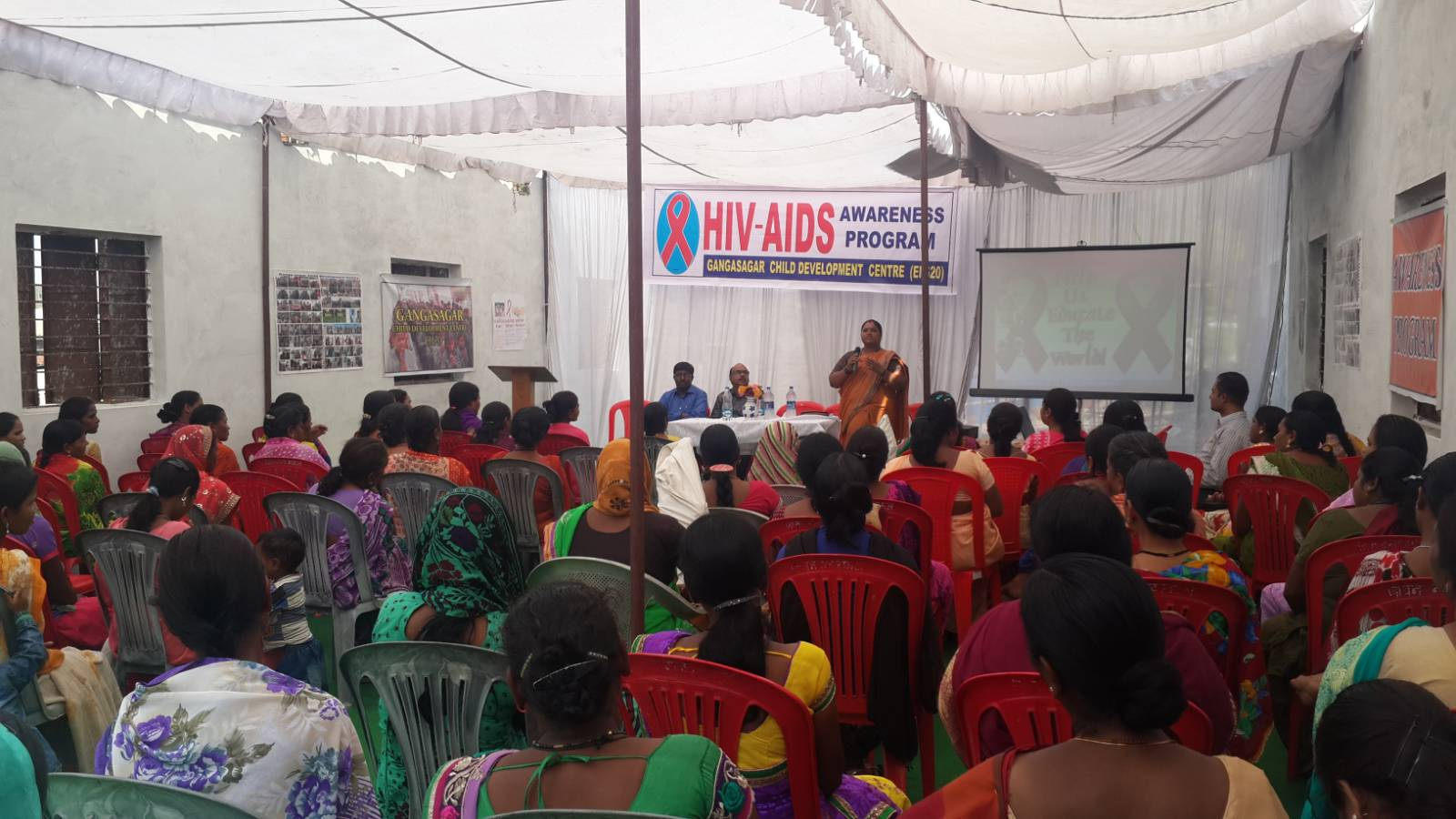 HIV awareness program and test in Daily labor people.