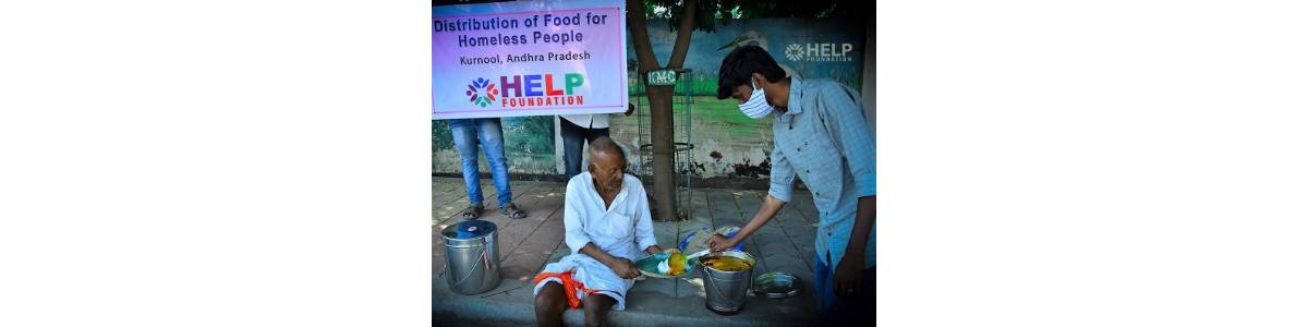 Donate food for homeless People