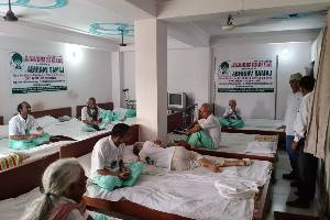Contribute towards free old-age home for elderly/destitute parents