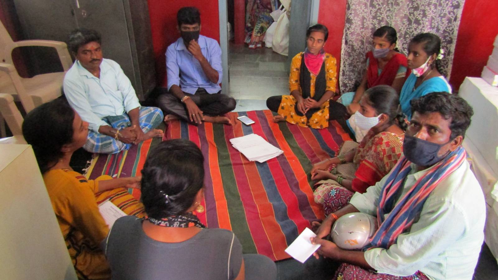 Discusion with youths