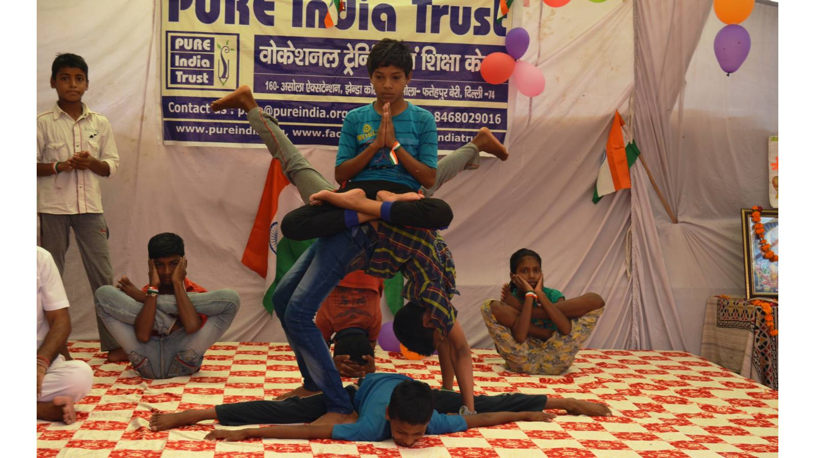 Yoga performance by our students