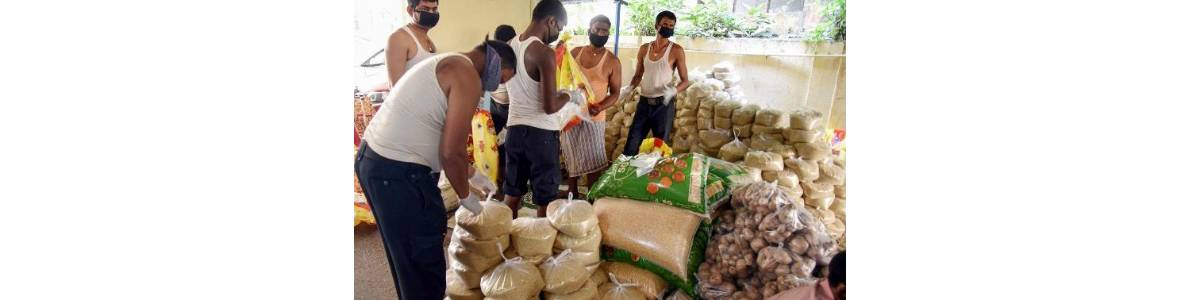 FOOD DISTRIBUTION TO COVID PATIENTS AND HOME ISOLATED PATIENTS