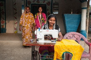 Sewing machines to 50 girls from marginalized groups