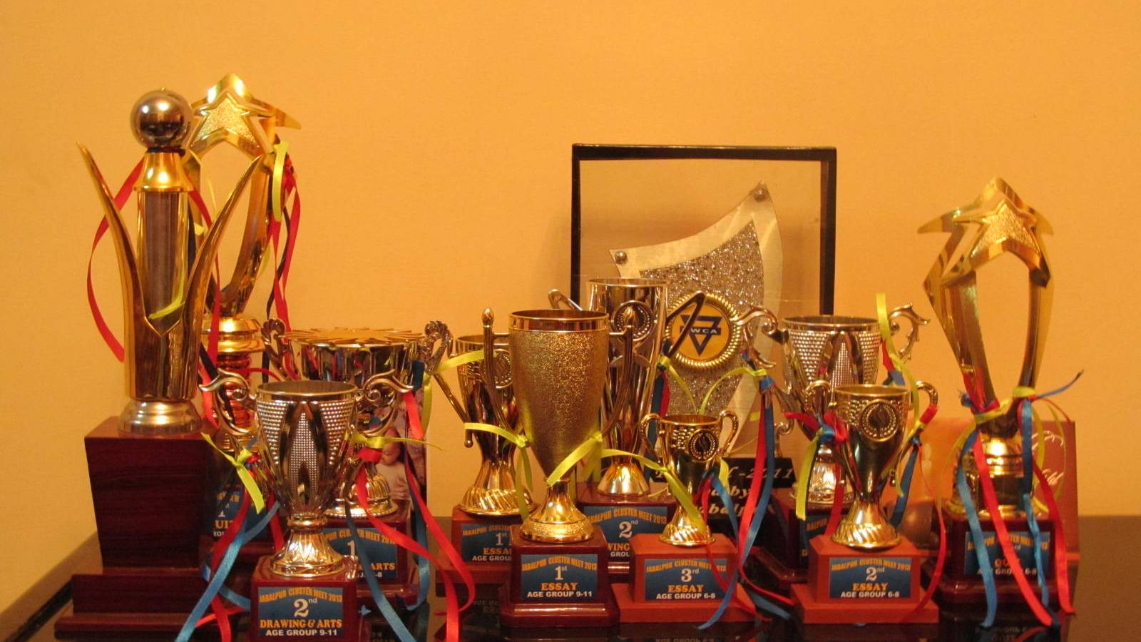 child care children won many Prizes in inter school competitions